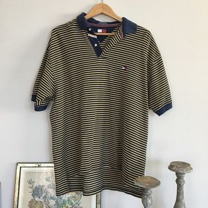 Vintage striped Tommy Hilfiger polo shirt